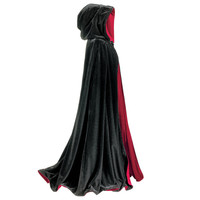 Black and Red Reversible Cape - Women's Clothing & Symbolic Jewelry – Sexy, Fantasy, Romantic Fashions