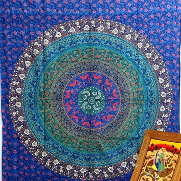 Tapestries Hippie Mandala Tapestry Wall Hanging, Mandala Tapestry, Mandala Wall Art Mandala Wall Hanging Indian Tapestries Bohemian tapestry