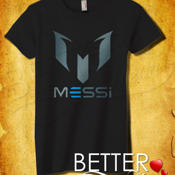 """Messi Initials """"M"""" Women T-Shirt - Leonel Messi T-Shirt -  Football - World Cup 2014 Design For Women T-Shirt (All Color Available)"""