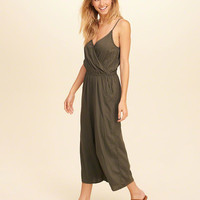 Girls Wrap Front Culotte Jumpsuit | Girls New Arrivals | HollisterCo.com