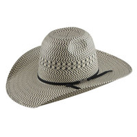 Western Boot Sales - Online Western Store - American Hat Co 20★ 3X3 Shantung Vented Straw Hat - Ivory/Black, Straw Cowboy Hats, 5510