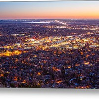 City Of Boulder Colorado Downtown Scenic Sunrise Panorama Metal Print By James Bo Insogna