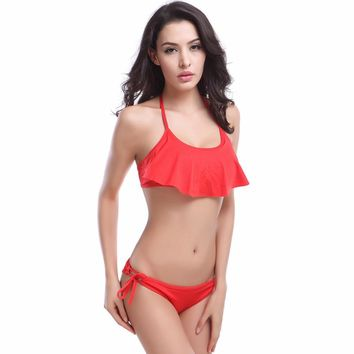 swimsuit adult figures Ruffled Woman waist bikini