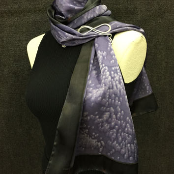 Purple Madness - Hand Painted Silk Scarf