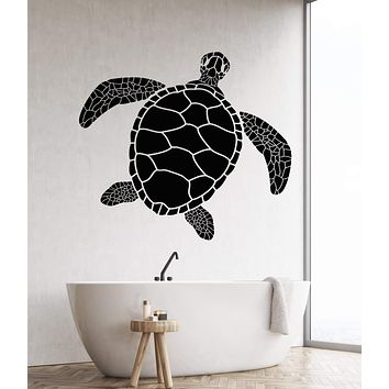 Vinyl Wall Decal Sea turtle Ocean Marine Style Animal Bathroom Decor Stickers Unique Gift (1731ig)