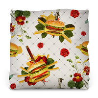Cheeseburgers in Gangsta's Paradise  Outdoor Throw Pillow