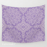 Wall Tapestry Mandala Pattern Lavender or Royal Purple Boho Bohemian Shabby Chic Dorm Room Home Decor