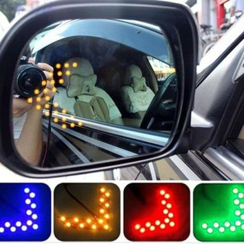 New Arrival 14 SMD LED Arrow Panel For Car Rear View Mirror Indicator Turn Signal Light M19