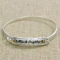 Mom and daughter bracelet