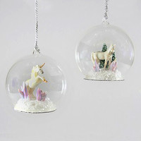 Magical crystal unicorn ornament