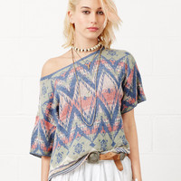 Denim & Supply Ralph Lauren Short-Sleeve Diamond-Print Pullover