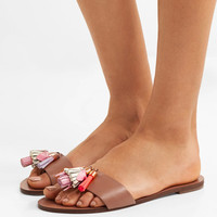 Sophia Webster - Jada tasseled leather slides