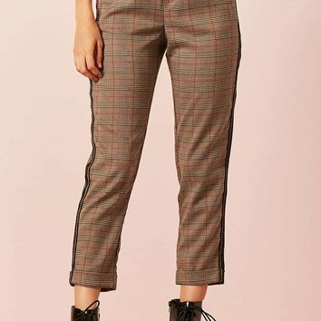 Glen Plaid Stripe Pants