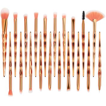 20Pcs Makeup Brushes Set Powder Eye Shadow Foundation Concealer Blush Lip Cosmetic Make Up Beauty Brush Tool