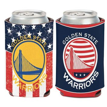 GOLDEN STATE WARRIORS USA AMERICAN PATRIOTIC FLAG KADDY KOOZIE CAN HOLDER