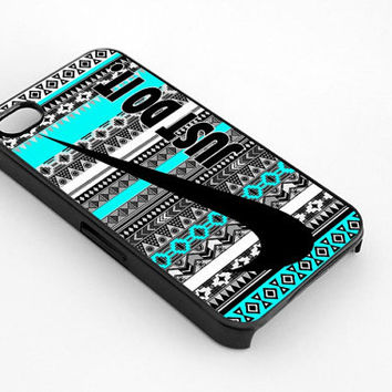 Nike Just Do It Aztec Mint for iphone 4/4s case, iphone 5/5s/5c case, samsung s3/s4 case cover