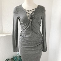 ALYSSA DRESS - GREY