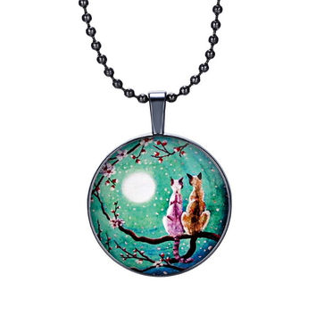 Lovely Cats Pendant Necklace