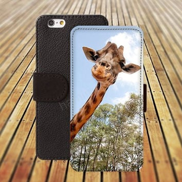 iphone 6 case Funny Giraffe colorful iphone 4/4s iphone 5 5C 5S iPhone 6 Plus iphone 5C Wallet Case,iPhone 5 Case,Cover,Cases colorful pattern L510