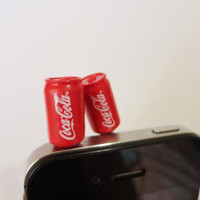 SALE 8020OFF Cute CocaCola can // iPhone Plug  Phone by Kappuruu
