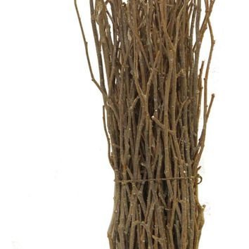 """14"""" Rustic Natural Twig Frosted and Glittered Standing Christmas Tabletop Decoration"""