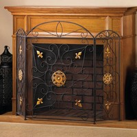 Luxurious Splendor Fireplace Screen