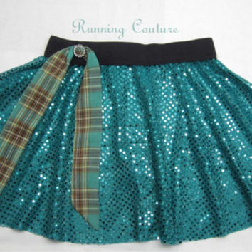 Brave Merida  inspired Sparkle Running Misses Circle skirt