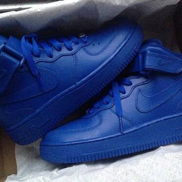 All blue midtop AIR FORCE 1!!!