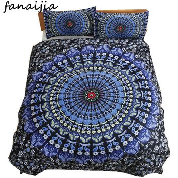 FANAIJIA bohemia 3d bedding sets boho Mandala printing wedding duvet cover set 3pcs bedsheet Pillowcase queen  size Bedlinen