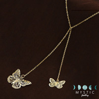 Necklace Fashion Pendant 2 Colors Butterfly Chokers For Women