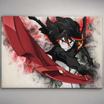Kill La Kill Matoi Ryuko Anime Manga Watercolor Print Poster No709