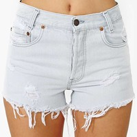 Green Star Clean Slate Cutoff Shorts