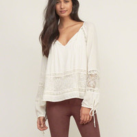 Laser-cut Peasant Top