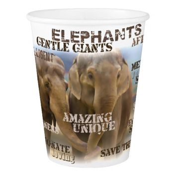 Amazing Elephants Paper Cup, 9 oz Paper Cup