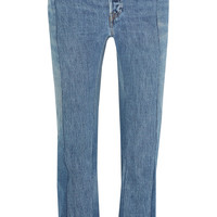 Vetements - Patchwork high-rise straight-leg jeans