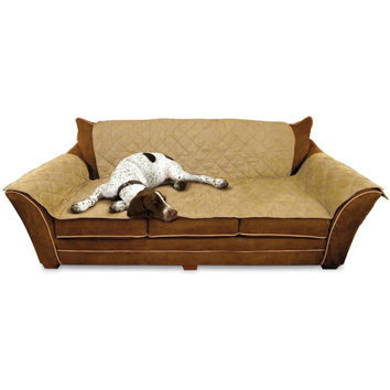 """K&H Pet Products Furniture Cover Couch Tan 26"""" x 70"""" seat, 42"""" x 88"""" back, 22"""" x 26"""" side arms"""