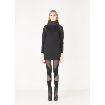 Turtleneck Tunic - Black
