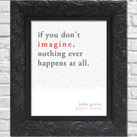 literary art print / book quote // paper towns; john green