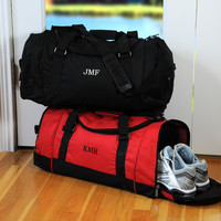 Black Deluxe Sports Duffle Bag