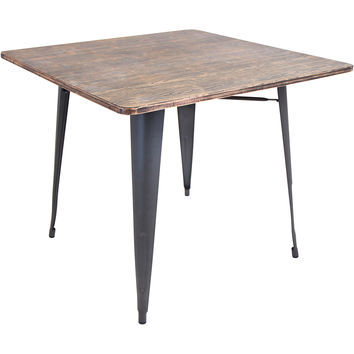 Oregon Dining Table, Gray/Wood