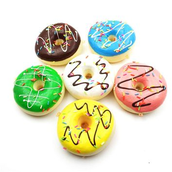 9cm Sprinkles Chocolate Donuts Squishy Jumbo Sweet Candy Bread Slow Rising Phone Straps Soft Charms Scented Kid Fun Toy Gift