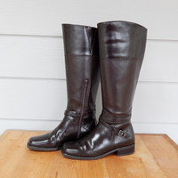 Vintage Worthington Boots, Riding Boots, Brown Boots, Size 8 1/2
