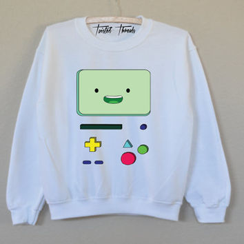 BMO unisex t-shirt - pullover crewneck sweatshirt - adventure time - shirt - tumblr - graphic tee - S/M/L/XL