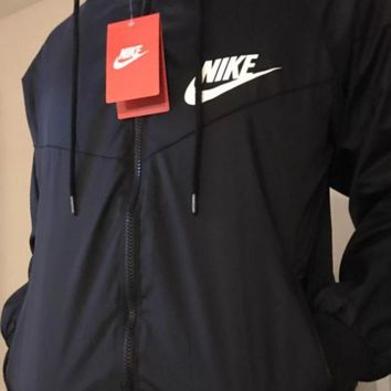 Nike Hooded Zipper Cardigan Windbreaker Sweatshirt Jacket Coat Sportswear