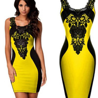 Dress 5 Colors 2017 New Black Embroidery Bodycon Women Summer Dress Sexy Bodycon Bandage Casual Club Party Dresses Plus Size -0331