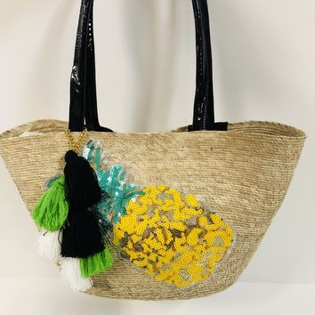 Mexican Embellished Tote - Pineapple