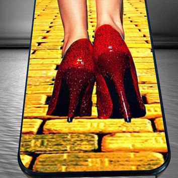 Yellow Brick Road Dorothy Wizard of Oz Inspired Cute Ruby Red for iPhone 4/4s/5/5S/5C/6, Samsung S3/S4/S5 Unique Case *95*