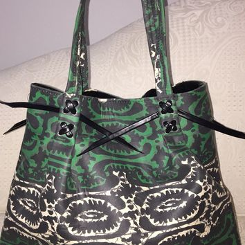 Tote Style West African Fabric Handbag by DoorsToAfrica