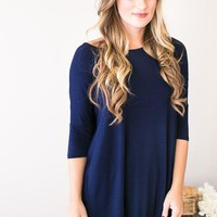 Simple is Best Navy Tunic