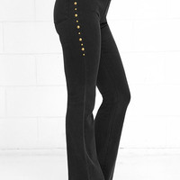 Amuse Society Fulton Washed Black High-Waisted Flare Jeans